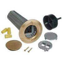 Drop-In Floor Box Kit, Brass