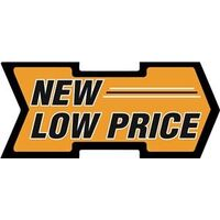 New Low Price Arrow Shelf Tag