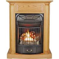 Duel Fuel Gas Fireplace, 20,000 Btu Oak