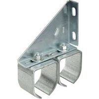 DOUBLE ROUND RAIL BRACKET GALV