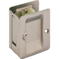 "Passage Pocket Door Pull, 2 3/8"" Satin Nickel"