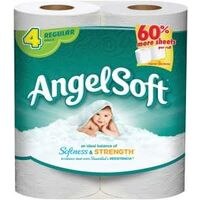 "Angel Soft Toilet Paper, 4.27"" x 4' White 4 Pk"