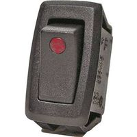 Calterm 40341 Automotive Rocker Switch with Red LED Dot