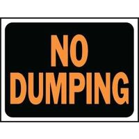 No Dumping Plastic Hy Glo Sign
