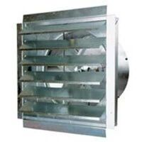 Industrial Exhaust Fan with Shutter, 36""