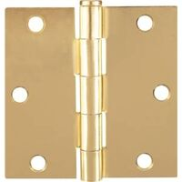 "Screen Door Hinge, 3"" x 3"" Satin Brass"