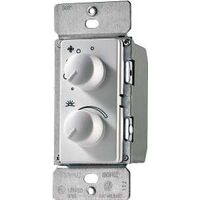 Four Speed Dual Fan Dimmer Both Control White