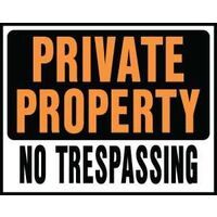 "Jumbo Private Property Sign, 15"" x 19"""