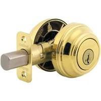 2-CYL DEADBOLT SMT BRT BRASS