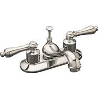 Two Handle Bathroom Faucet with Pop Up, Chrome