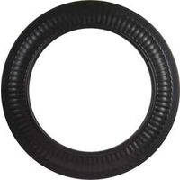 Stove Pipe Collar, Black 6""