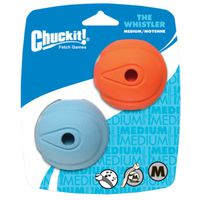 BALL PET WHISTLER MEDIUM 2PK