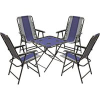 TABLE/CHAIR 5PIECE SET NVY/GRY