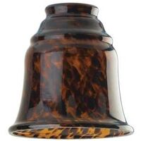 "Bell-Shaped Pendant Light Shade, 2.25"" Tortoise Shell"