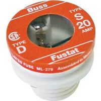 Tamper Proof  Heavy Duty Plug Fuse, 20A