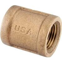 Low Lead Brass Coupling, 1 1/2""