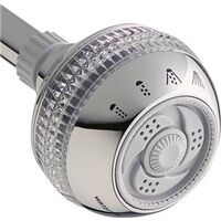 Fixed Mount Massage Shower Head, Chrome