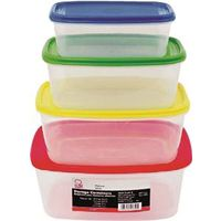 Chef Craft 21640 4-Piece Food Storage Container Set