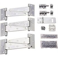 Shed Hardware Kit, Zinc Plated