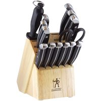 KNIFE SET BLOCK 15PC SS/CARBON