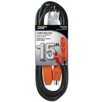 CORD WORKSHOP 3OUTLET BLACK/ORANGE 15FT