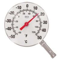 THERMOMETER DIAL 6IN WHITE