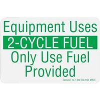 Equipment Uses 2-Cycle Decal