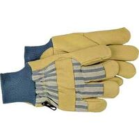 Insulated Pigskin Leather Gloves, Large