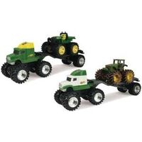 Monster Tread John Deere Assorted Truck Toys, 4 Pc