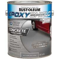 Concrete Floor Paint, 1 Gal Battleship Gray