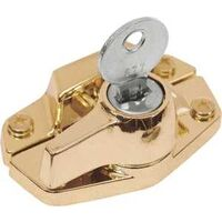 Keyed Window Sash Lock, Brass
