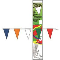 Hy-Ko PEN-3 Bagged V-Shape Pennant Flag 50 ft L