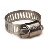 Two Micro Gear Hose Clamp, Stainless Steel