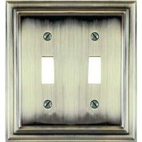 2-Toggle Plate Brushed Brass