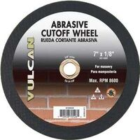 "Abrasive Cut Off Wheel, 7"" x 1/8"""