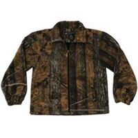 Adult Full Zip Camouflage Fleece Jacket, X-Large Brown
