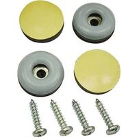 "Screw On Furniture Glides, 7/8"" Gray"