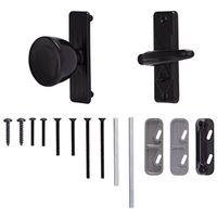 DOOR KNOB LATCH STORM BLACK
