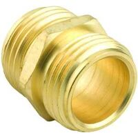 "Double Male Brass Connector, 3/4"" x 3/4"""