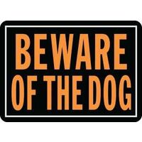 "Beware of The Dog Sign, 10"" x 14"""