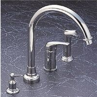 "Single Handle HI-Rise Kitchen Faucet, 8"" Chrome"