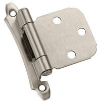 OVERLAY HINGE SATIN NICKEL