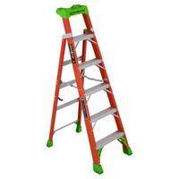 LADDER IA FBRGLS CRSS-STEP 6FT