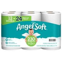 "Angel Soft Toilet Paper, 4.27"" x 4' White 12 Pk"