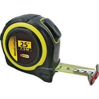 "SAE & Metric Tape Measure with Rubber Shell, 1"" x 25'"