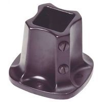 LL Buildsite FF125 Floor Flange Rail, For Use With 1-1/4 in Contemporary Rail, Steel, Black