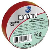 """All-Purpose Vinyl Electrical Tape, 3/4"""" x 66' Red"""
