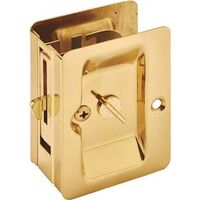 "Pocket Door Privacy Latch, 2 3/8"" Brass"