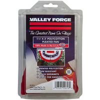 Valley Forge PMF Pleated Mini Fan Flag with Stars