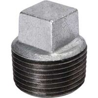 Galvanized Malleable Iron Square Head Plug, 3""